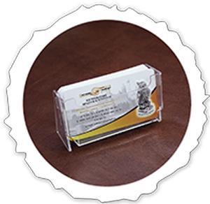 Настольная подставка для визиток            жесткий пластик