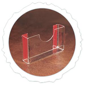 Настенный держатель для визиток            горизонтальный